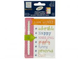 Wholesale Baby Girl Chipboard Slider With Glitter Accents