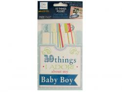 Wholesale 10 Things I Adore About My Baby Boy Journaling Pocket
