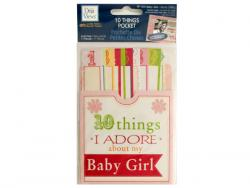 Wholesale 10 Things I Adore About My Baby Girl Journaling Pocket