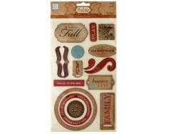 Wholesale Fall Self-Adhesive Chipboard Embellishments